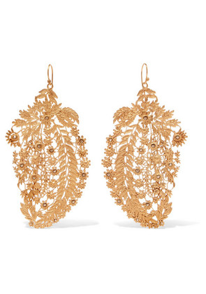 Etro - Gold-tone Crystal Earrings - one size