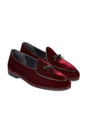 Rubinacci Bordeaux Marphy Suede Loafers