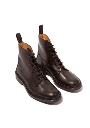 Tricker's Burford Espresso Burnished Leather Lace-Up Boots