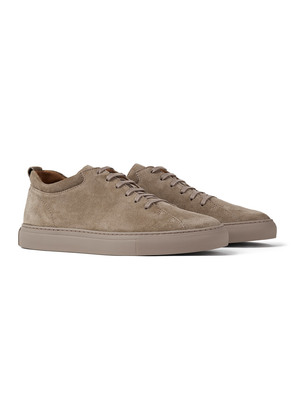 C.QP French Mud Suede Tarmac Sneakers