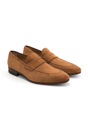 Cifonelli Camel Suede Loafers