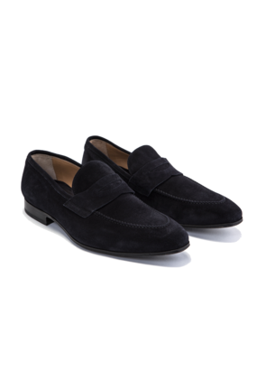 Cifonelli Black Suede Loafers