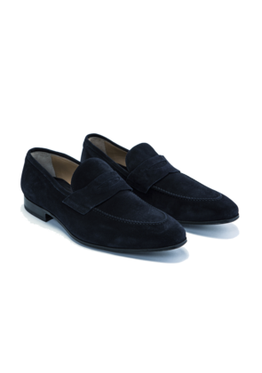 Cifonelli Navy Suede Loafers