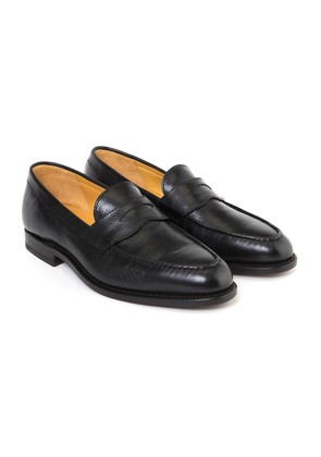 Ludwig Reiter Black Camel Leather Penny Loafers