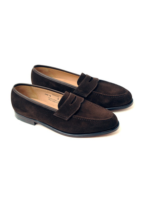 Bodileys Dark Brown Maddox Suede Penny Loafers