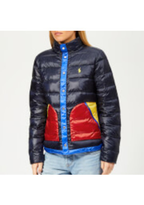 Polo Ralph Lauren Women's Colourblock Down Jacket - Navy/Multi - XS - Navy/Multi