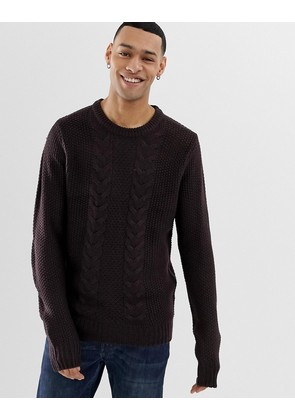 Brave Soul Cable Knit Jumper