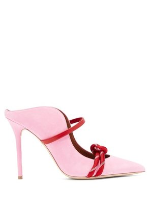 Malone Souliers - Farrah Suede Mules - Womens - Pink Multi