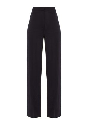 Jacquemus - Costume High Rise Wool Trousers - Womens - Navy