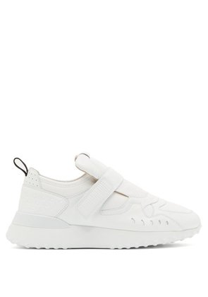 Tod's - Exaggerated Sole Leather Trainers - Womens - White
