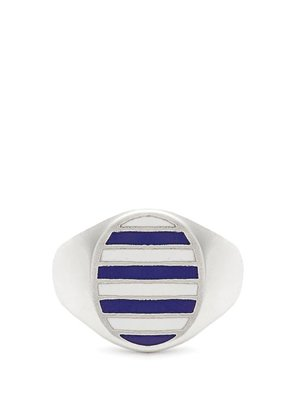 Jessica Biales - Enamel & Sterling Silver Ring - Womens - Blue