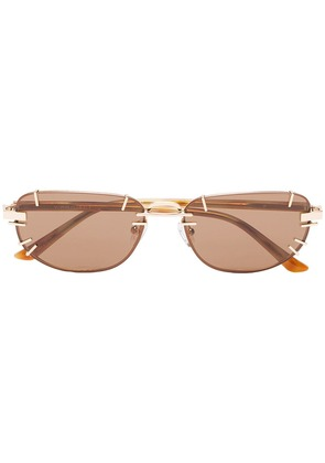 Linda Farrow brown X Y / Project tinted sunglasses