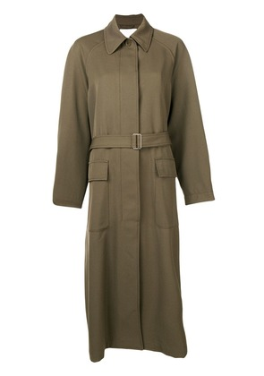 3.1 Phillip Lim long single-breasted coat - Green