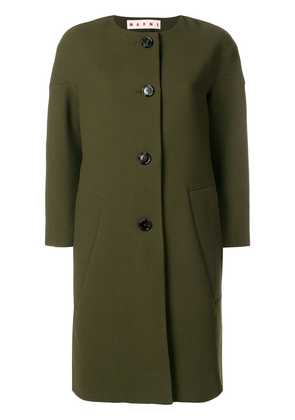 Marni single-breasted fitted coat - Green