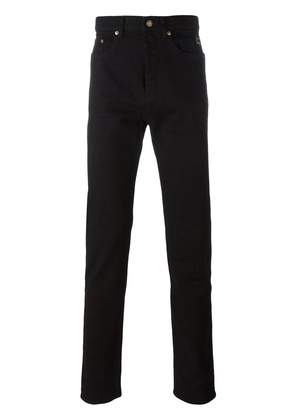 Saint Laurent embroidered slim fit jeans - Black