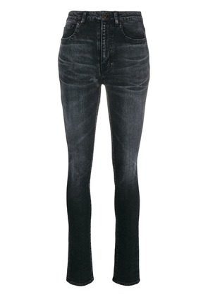 Saint Laurent high rise skinny jeans - Black