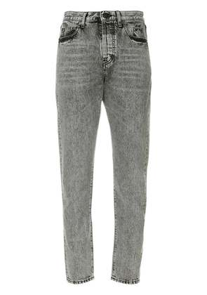 Saint Laurent high-waist straight jeans - Grey