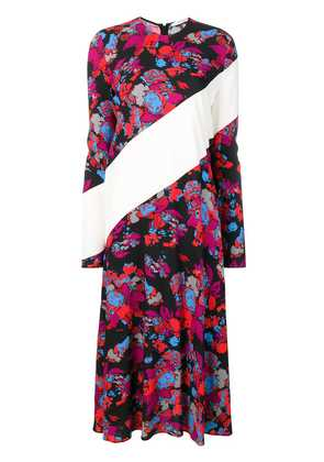 Givenchy contrast panel floral print dress - Red