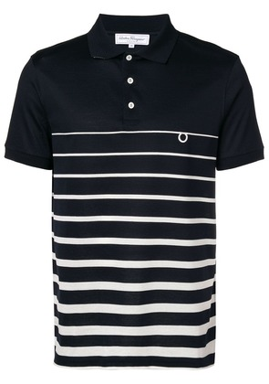 Salvatore Ferragamo striped polo shirt - Blue