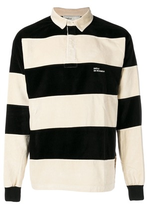 Drôle De Monsieur velvet polo shirt - Black