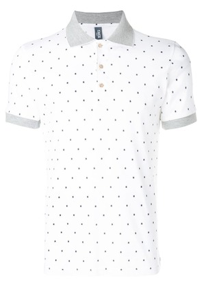 Fefè star print polo shirt - White