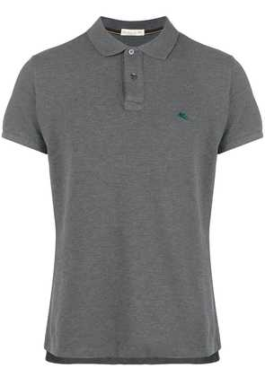 Etro logo embroidered polo shirt - Grey