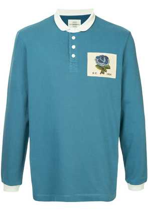 Kent & Curwen rose patch polo shirt - Blue