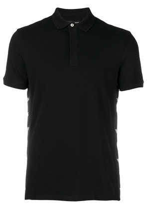 Emporio Armani logo sided polo shirt - Black