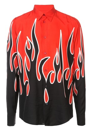 Givenchy flame-printed slim-fit shirt - Black