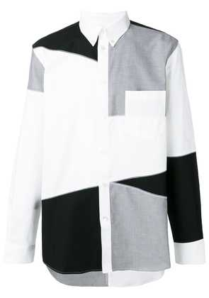 Givenchy contrast panels shirt - White