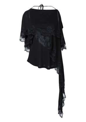 Givenchy lace detail layered blouse - Black