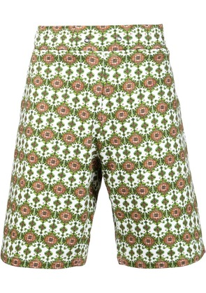 Givenchy carpet print bermuda shorts - White