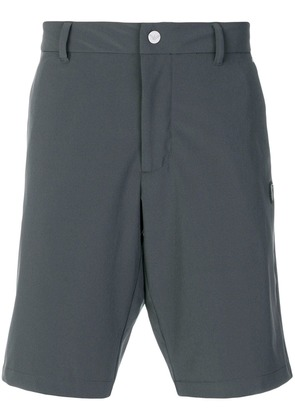 Ea7 Emporio Armani logo patch fitted shorts - Grey