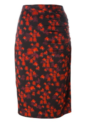Givenchy abstract print skirt - Red