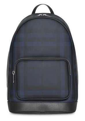 Burberry London Check and Leather Backpack - Blue