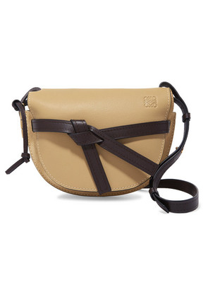 Loewe - Gate Small Leather And Suede Shoulder Bag - Beige