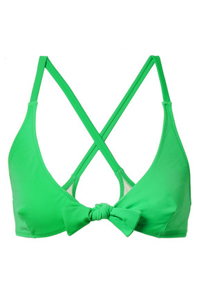 Solid & Striped - The Fiona Knotted Bikini Top - Green