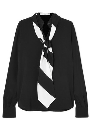 Givenchy - Pussy-bow Silk Crepe De Chine Blouse - Black