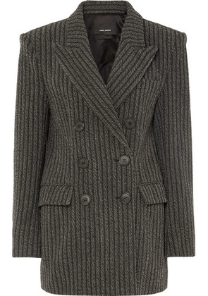 Isabel Marant - Jaxen Double-breasted Striped Wool-blend Blazer - Gray