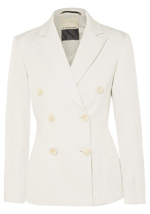 By Malene Birger - Yamiga Double-breasted Satin-crepe Blazer - Ivory