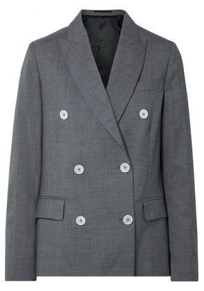 Golden Goose Deluxe Brand - Misam Double-breasted Wool-crepe Blazer - Anthracite