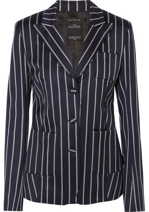 Rokh - Striped Wool-blend Blazer - Navy