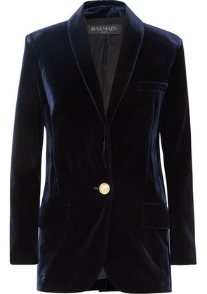 Balmain - Velvet Blazer - Midnight blue