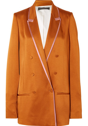 Haider Ackermann - Double-breasted Two-tone Satin Blazer - Copper