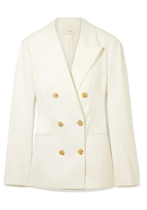 The Row - Rupsen Double-breasted Cotton-twill Blazer - Ivory