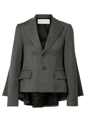 Matthew Adams Dolan - Cape-effect Herringbone Tweed Blazer - Dark gray
