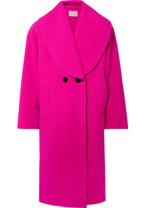 Marc Jacobs - Oversized Double-breasted Wool-blend Coat - Fuchsia