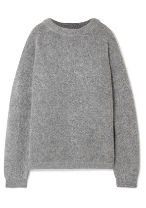 Acne Studios - Dramatic Oversized Knitted Sweater - Gray