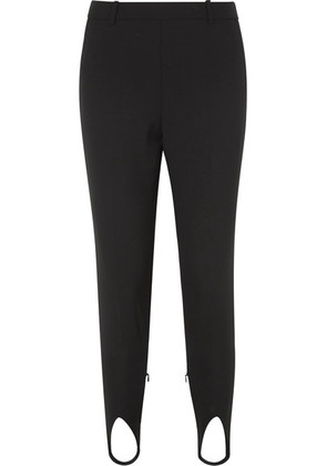 Givenchy - High-rise Wool Tapered Stirrup Pants - Black