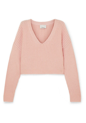 3.1 Phillip Lim - Oversized Cropped Ribbed Wool-blend Sweater - Blush